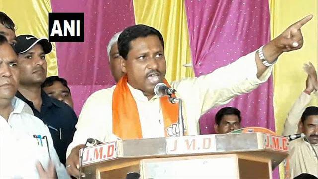 BJP उम्मीदवार ने दिया विवादित बयान, केंद्र-राज्य सरकार पर किसी ने अंगुली दिखाई तो तोड़ देंगे