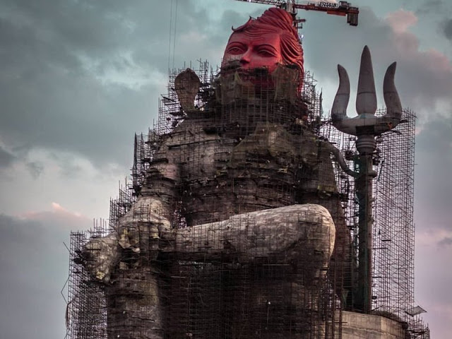 यहां बन रही दुनिया की सबसे ऊंची शिव प्रतिमा
