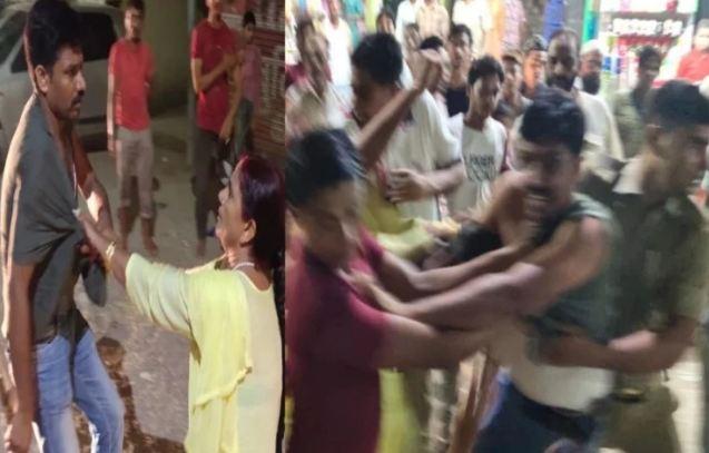 महिलाओं ने पुलिस को दौड़ा-दौड़ाकर पीटा, फाड़ी वर्दी