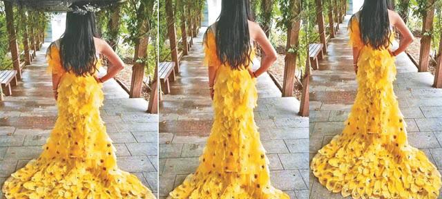 कॉलेज स्टूडेंट्स ने 6000 पत्तियों से बनाई इतनी 'खूबसूरत ड्रेस'