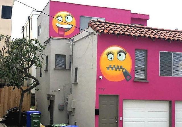 पड़ोसियों को खुश करने के लिए दीवारों पर बनवाईं स्माइली और इमाेजी, लेकिन...
