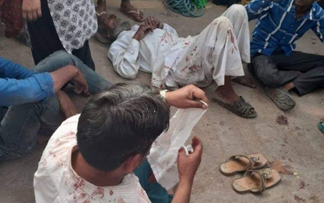 मुस्लिम परिवार पर हमला, गुंडों ने लोहे की छड़ें, लाठी, पत्थरों से मारा