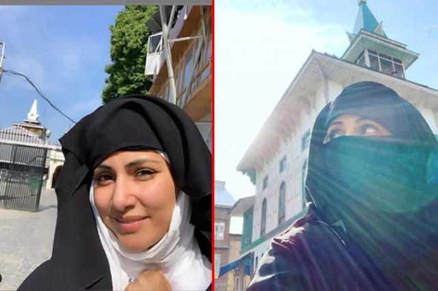बुर्के में दरगाह पहुंचने पर हिना खान को याद आया बचपन
