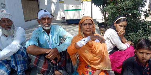 भूमि विवाद में भाइयों के बीच चले लाठी डंडे, दो लोग घायल