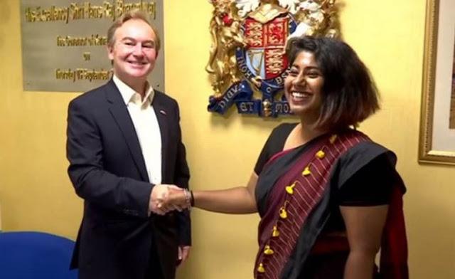 एक दिन के लिए ब्रिटिश डिप्टी हाइ कमिश्नर बनीं बेंगलुरु की अंबिका