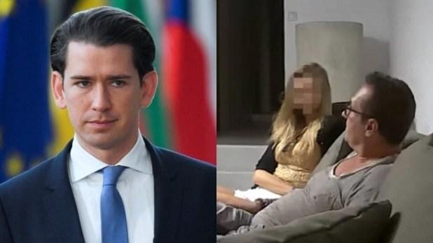 रूसी लड़की के साथ वीडियो लीक होने पर गिरी ऑस्ट्रिया सरकार