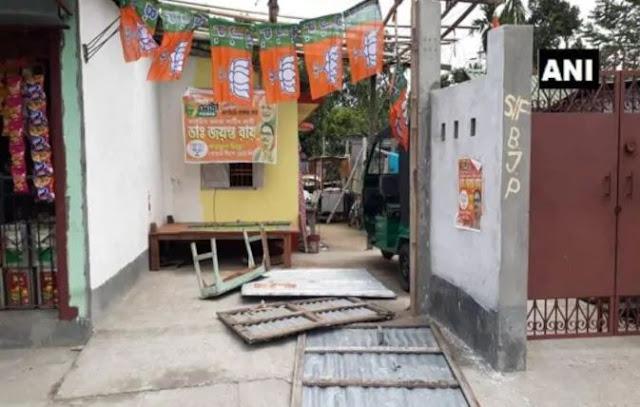 BJP के 3 बूथ पर अज्ञात लोगों ने किया हमला