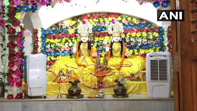 मंदिर में भगवान राम को न लगे गर्मी, लगाए गए कूलर
