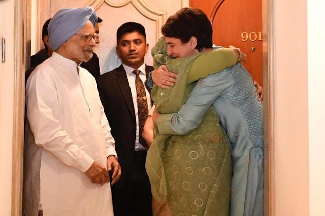 बांग्लादेश की PM शेख हसीना के गले लग प्रियंका बोलीं- आप मेरी प्रेरणास्त्रोत हैं...
