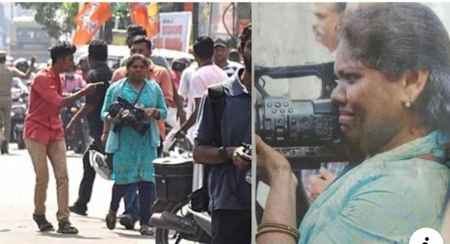 BJP कार्यकर्ताओं ने मुस्लिम महिला कैमरामैन से की मारपीट, रोते हुए बोली- मैं डरती नहीं