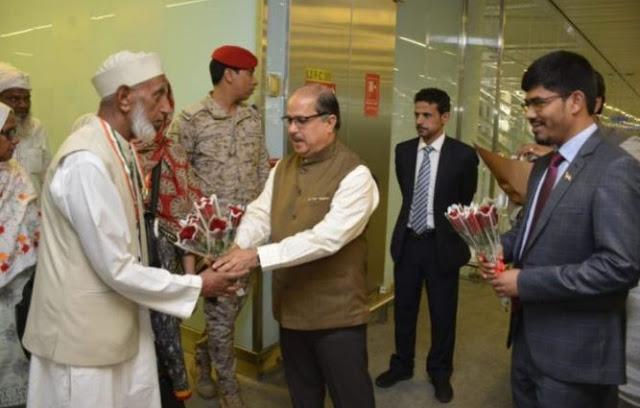 सऊदी अरब पहुंचा पहला भारतीय मुसलमानों का जत्था...