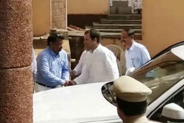 निजी दौरे के बीच CM पर्रिकर से मिलने पहुंचे राहुल गांधी