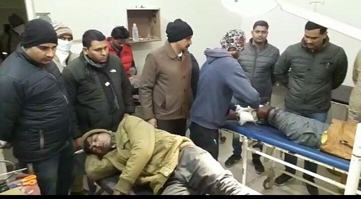 पुलिस मुठभेड़ में पकड़े गए 9 डकैत, असलहा व स्कार्पियो बरामद