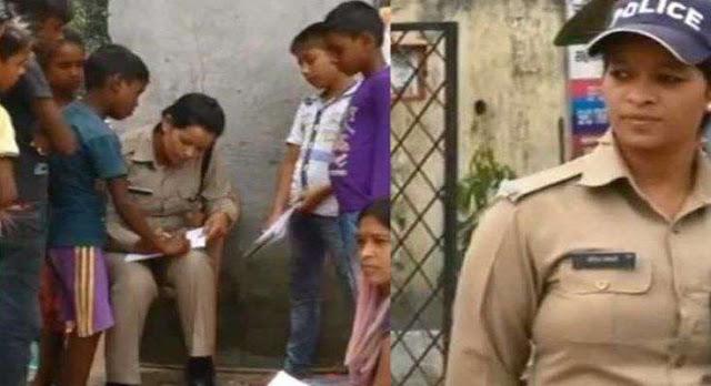 सैलरी के पैसों से कूड़ा बीनने वाले बच्चों को पढ़ा रही पुलिस कांस्टेबल सविता