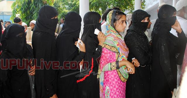 मुस्लिम महिलाओं के लिए पर्दानशीं बूथ