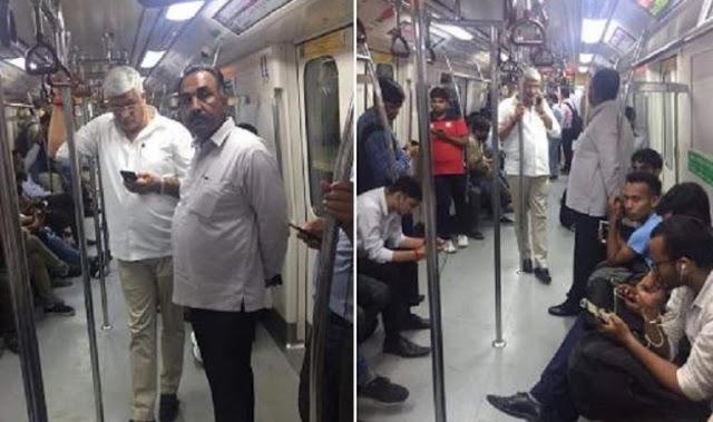 जल शक्ति मंत्री ने किया आम जनता के साथ मेट्रो में सफ़र