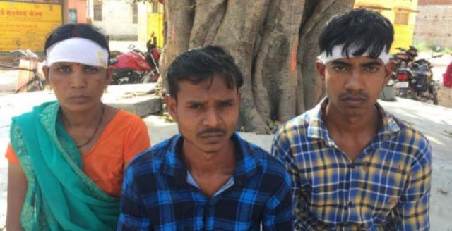 नशे में धुत्त युवक ने दो का सिर फोड़ा, महिला सहित 3 जख्मी