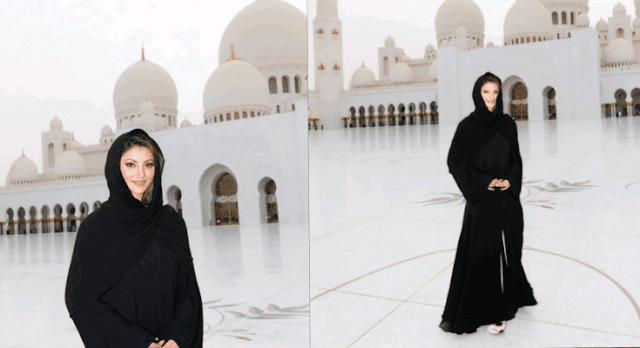 दुनिया की सबसे खूबसूरत मस्जिद पहुंची उर्वशी रौतेला, बुर्क़ा में दी रमजान की मुबारकबाद