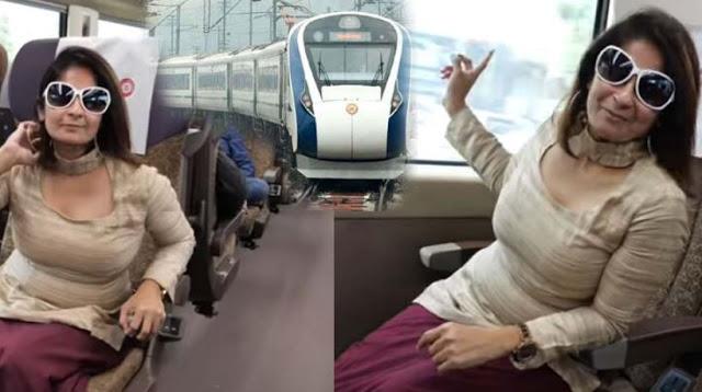इस महिला ने दिखाया कैसी है दिल्ली-वैष्णो देवी वंदे भारत एक्सप्रेस की यात्रा