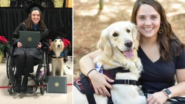 इस युवती ने अपने साथ पालतू कुत्ते को भी दिलवाई 'ग्रेजुएशन' की डिग्री