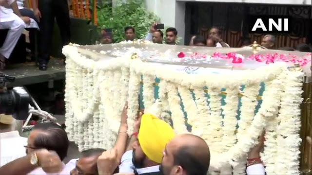 11 बजे से BJP मुख्यालय में अरुण जेटली का अंतिम दर्शन