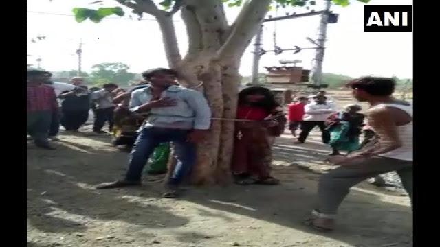 बेवफाई पर पेड़ से बांधकर पीटा, 5 अरेस्ट
