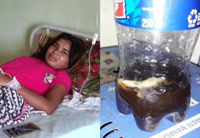 बोतल से कोल्डड्रिंक पी रही युवती के मुंह में आ गई छिपकली...