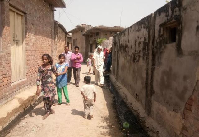 रातभर पुलिस के साथ ग्रामीणों ने की कांबिंग