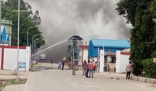 हिंदुस्तान पेट्रोलियम के प्लांट में टैंक फटा...