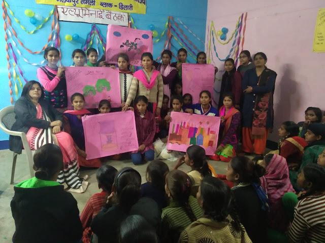 कस्तूरबा गांधी की छात्राओं ने बनाई सुंदर पेंटिंग