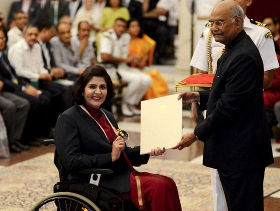दीपा मलिक को राजीव गांधी खेल रत्न पुरस्कार