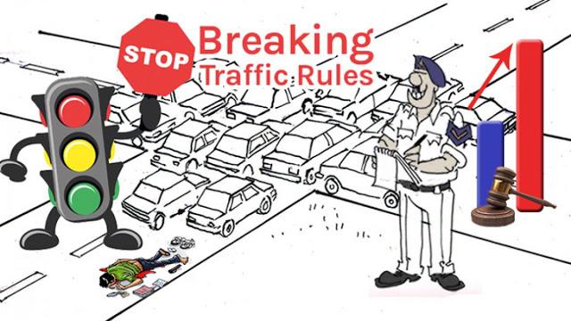 ट्रैफिक नियम तोड़ने पर अब देना होगा डबल जुर्माना